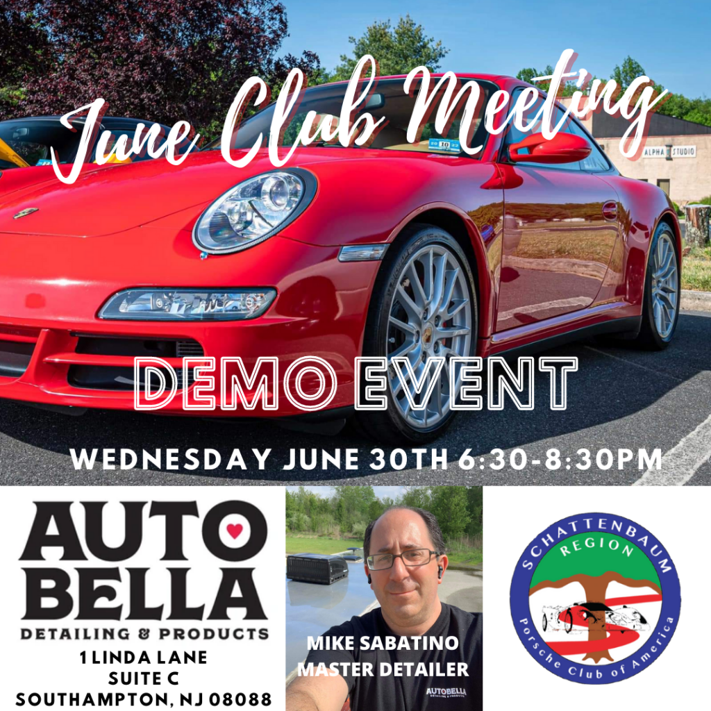June Club Meeting @ Auto Bella Detailing & Products | Southampton Township | New Jersey | United States