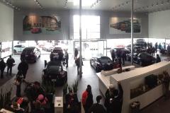 Wide-angle shot inside Princeton Porsche