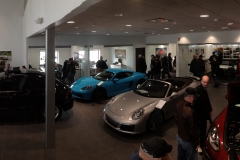 Another wide-angle shot inside Princeton Porsche